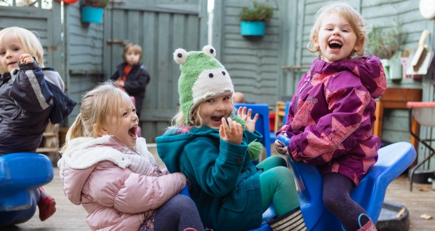 The children in our care enjoy developing strong bonds whilst having fun. They have the freedom to make independent choices and begin to develop a sense of fair play.